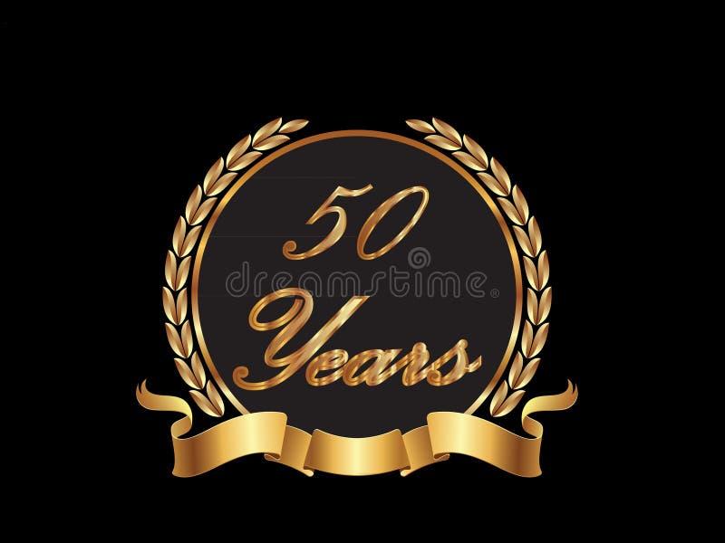 50 años ilustración del vector