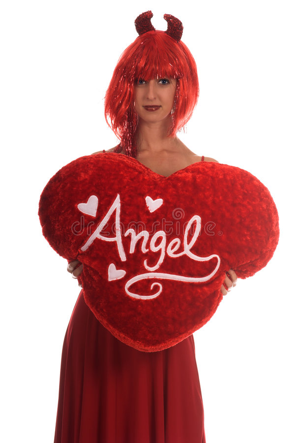 50% Angel 50% Devil royalty free stock images