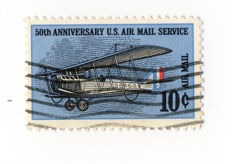 Download 50 Anniversary US Air Mail Service Stamp Stock Image - Image: 4107735