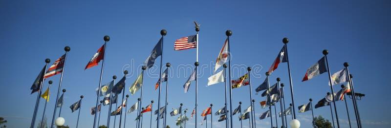 50 bandeiras do estado de América fotografia de stock royalty free