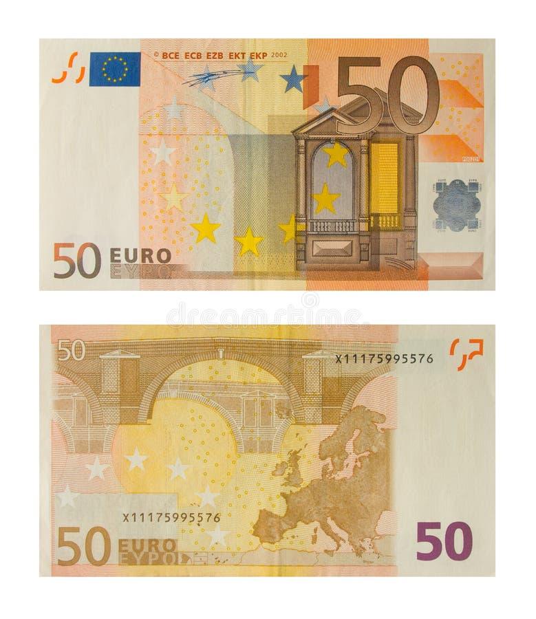 50 banknotów euro fotografia royalty free