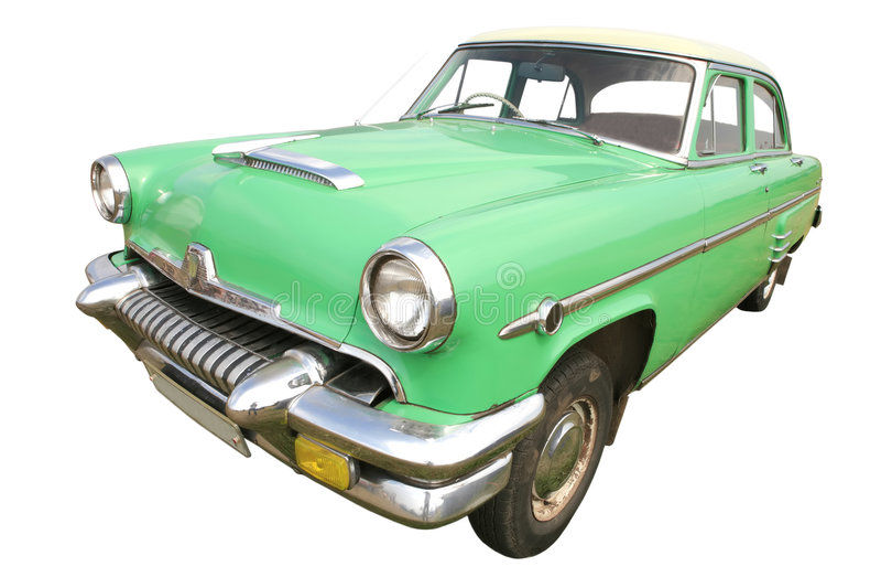 50 bil grönt retro s arkivbilder