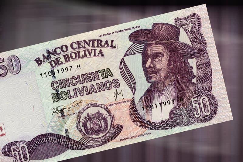 50 bolivianos стоковое изображение