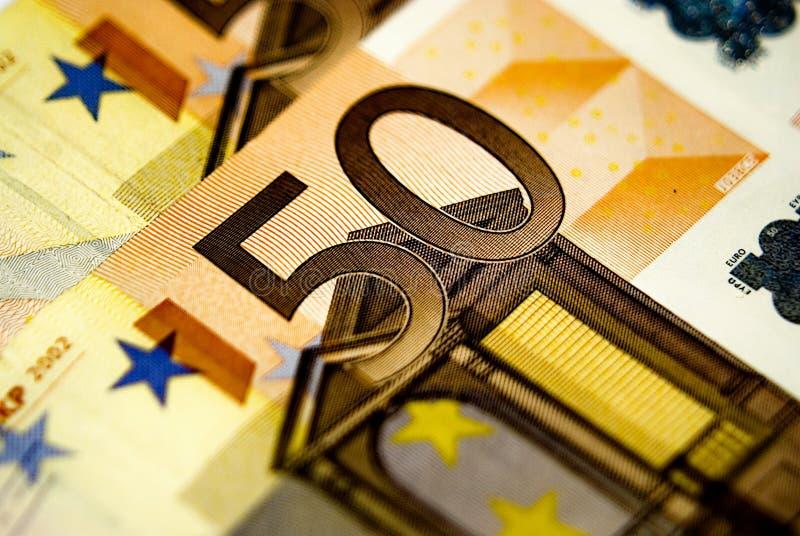 50 cuentas de los euros imágenes de archivo libres de regalías