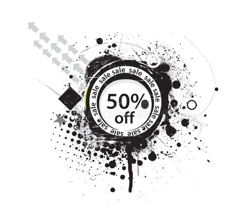 Download 50% discount banner stock illustration. Image of award - 13324022