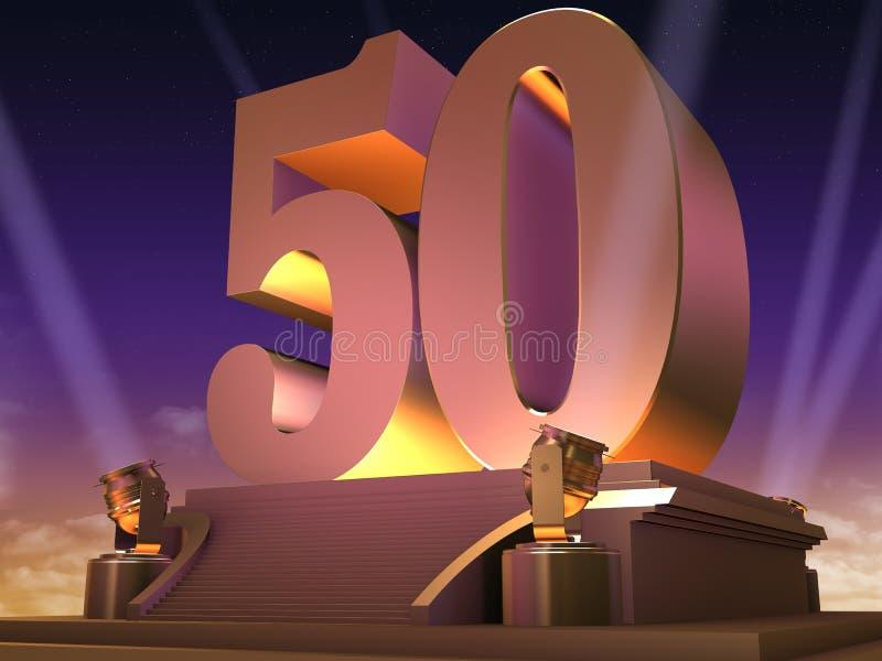 50 dorati - stile della pellicola illustrazione vettoriale