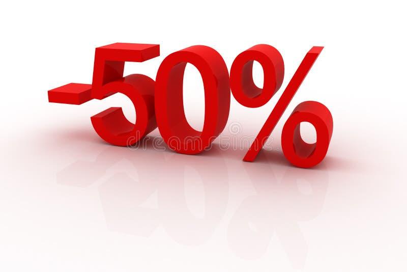 50 dyskontowych procentów ilustracji