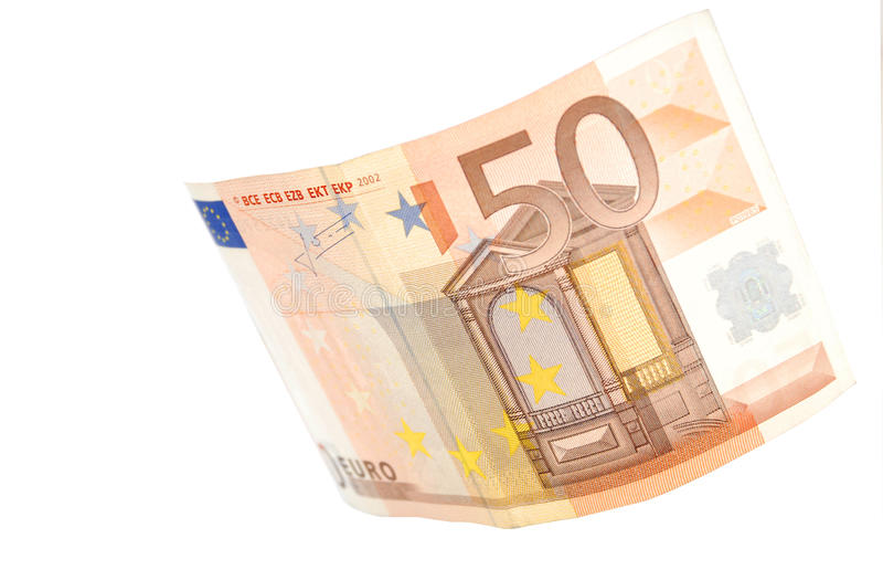 50 Euro. A bill of fifty euro stock image