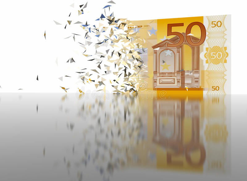 50 Euro Breaking - abstract background royalty free stock photo