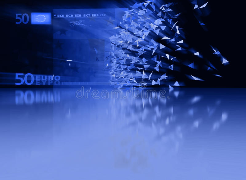50 Euro Breaking - abstract background royalty free stock images