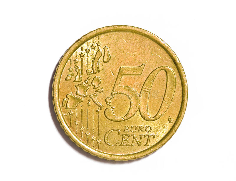 50 euro cents royalty free stock images
