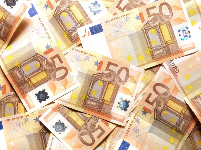 50 euro nota's royalty-vrije stock afbeelding