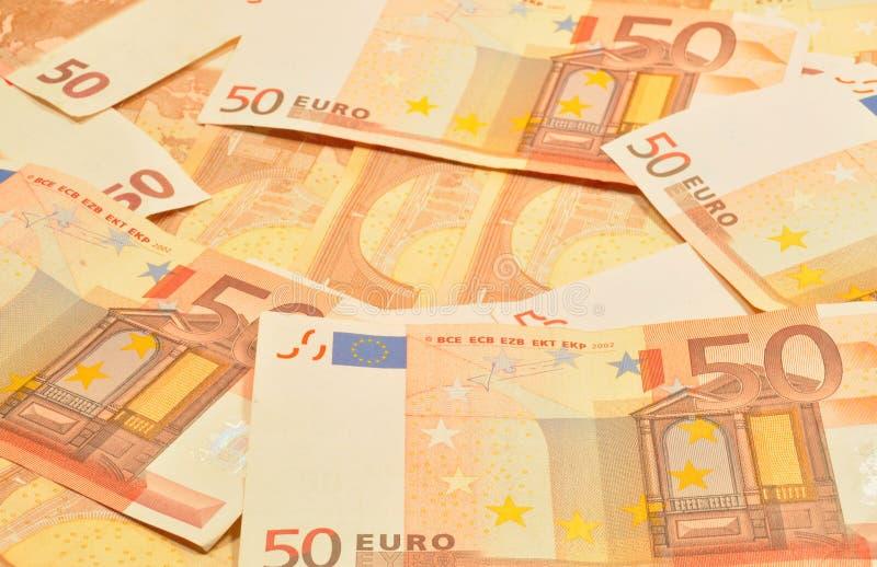 50 EURO NOTE fotografia stock