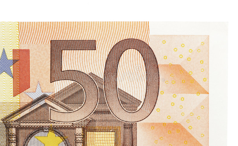 Download 50 Euro Note stock image. Image of white, euros, background - 3823705