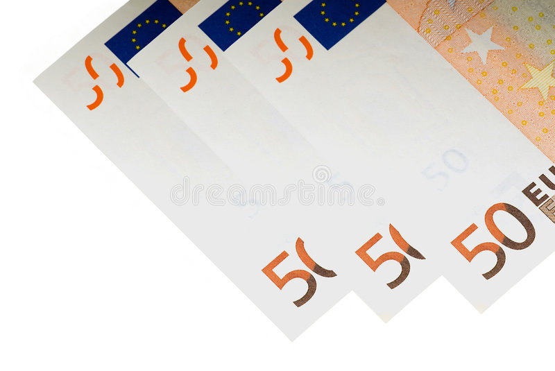 50 Euro Notes Royalty Free Stock Photos