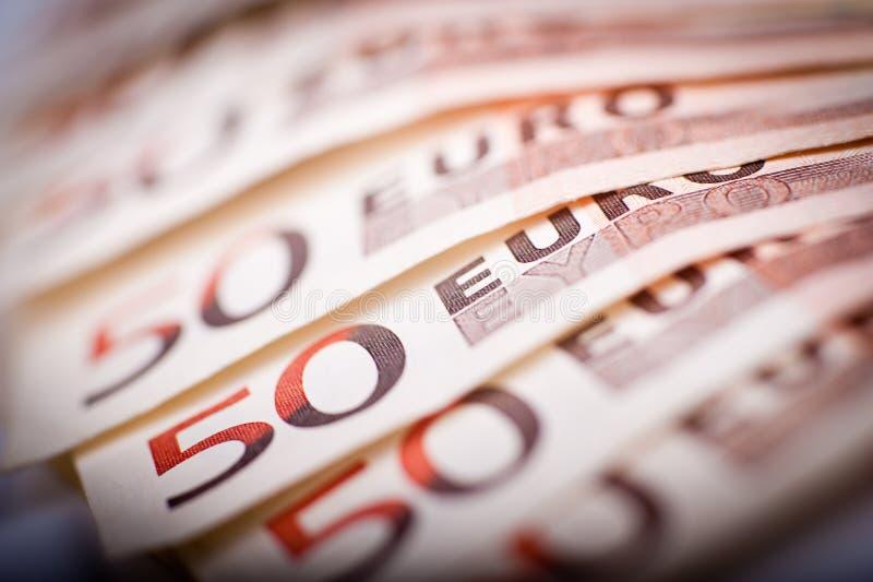 50 euro Rekeningen royalty-vrije stock afbeelding