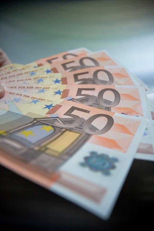 50 euros royaltyfri bild