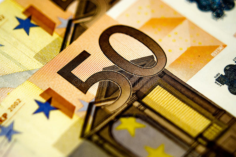 50 euros bills royalty free stock images
