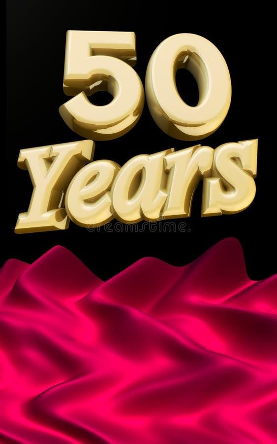 50 guld- år för årsdagceremoni stock illustrationer