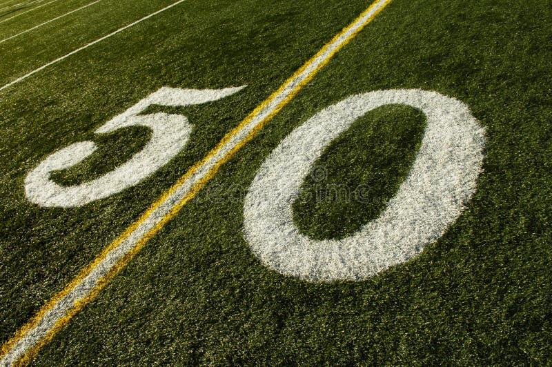 50 het Gebied van de Voetbal van de Lijn van de werf stock afbeelding