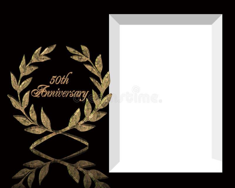 50. Hochzeits-Jahrestagseinladung lizenzfreie abbildung