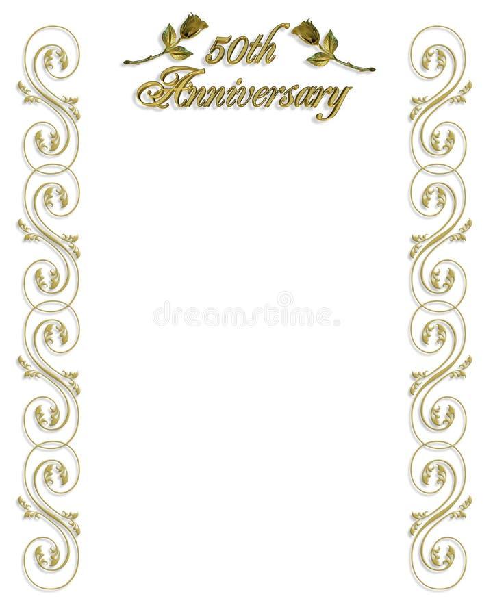 50. Jahrestags-Einladung stock abbildung