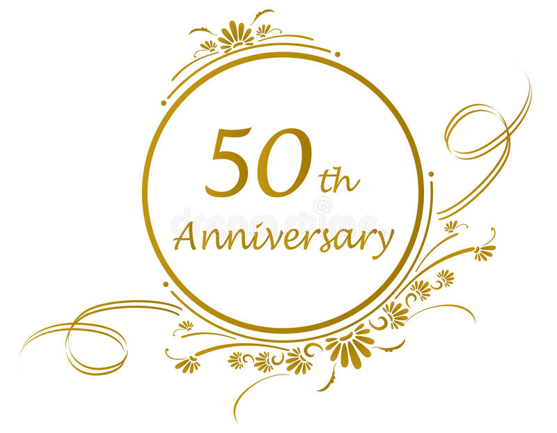 50. Jahrestagsauslegung stockfotografie