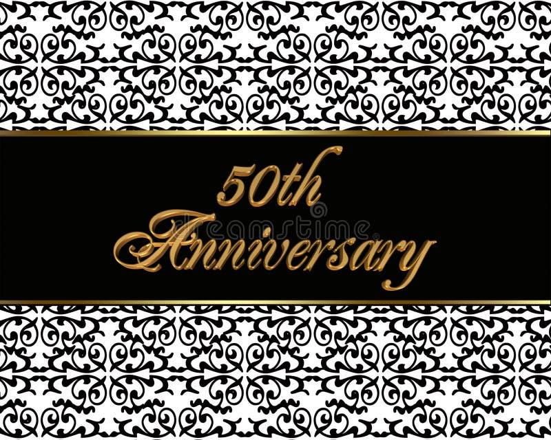 50. Jahrestagseinladungskarte stock abbildung