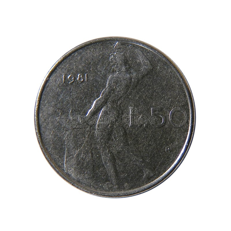 50 lirów włoskich zdjęcie royalty free