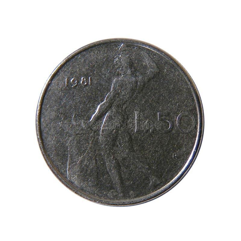 50 Liras Italianas Foto de Stock Royalty Free