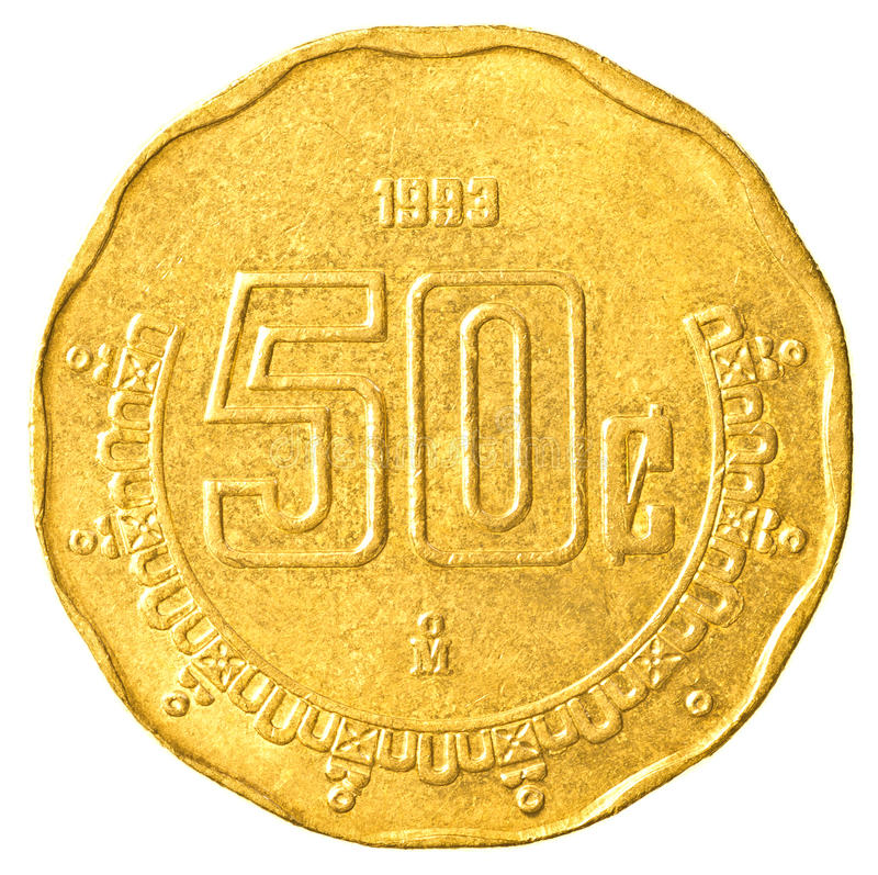 Free 50 Mexican Peso Cents Coin Stock Photo - 91498980