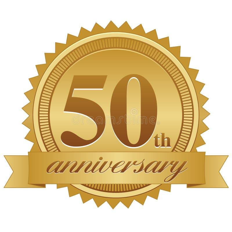 50.o Sello del aniversario stock de ilustración