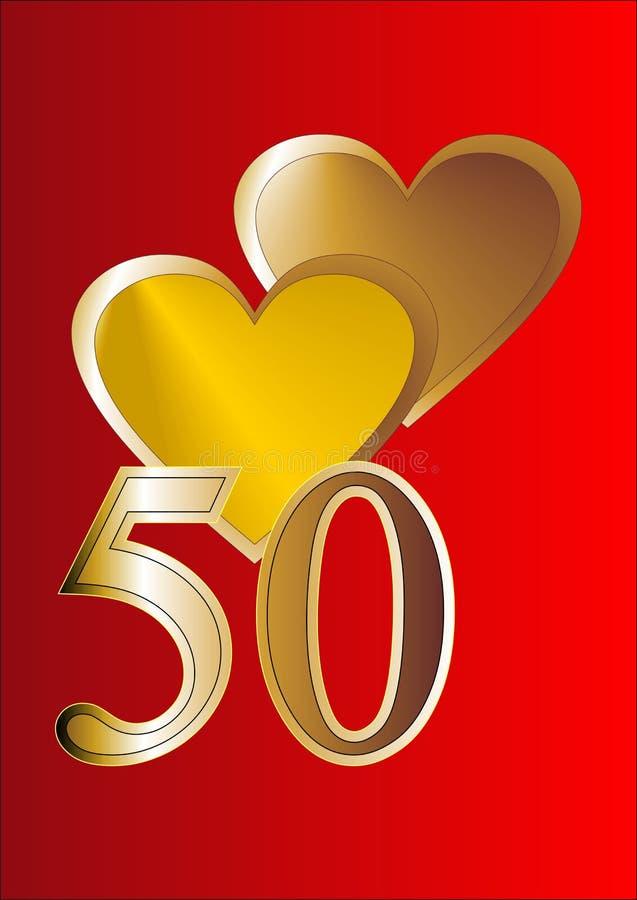 50.o Tarjeta del aniversario libre illustration
