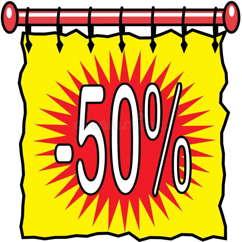 Free 50 Off Discount Illustration Royalty Free Stock Photography - 14599657