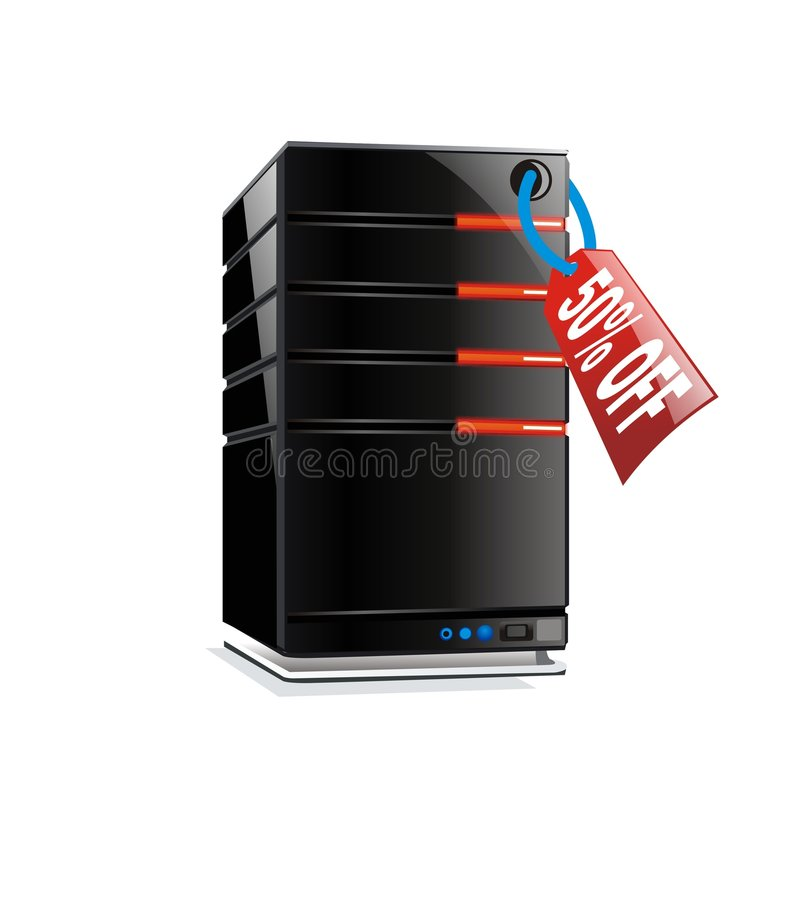 Download 50% off - hosting server stock illustration. Image of network - 4319957