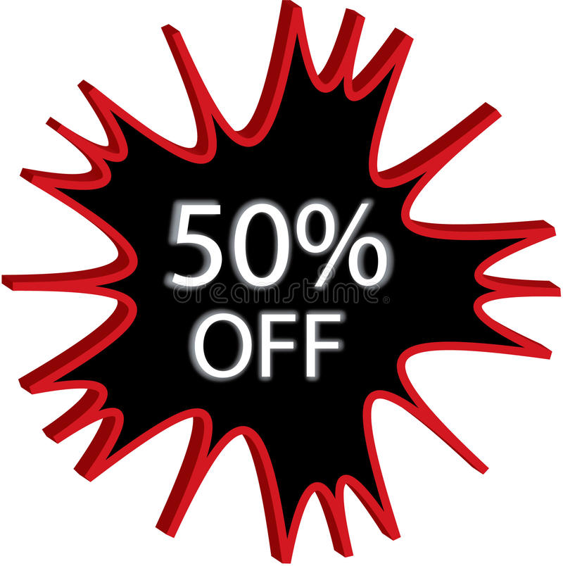 Free 50 Off Sign Illustration Stock Image - 12965121