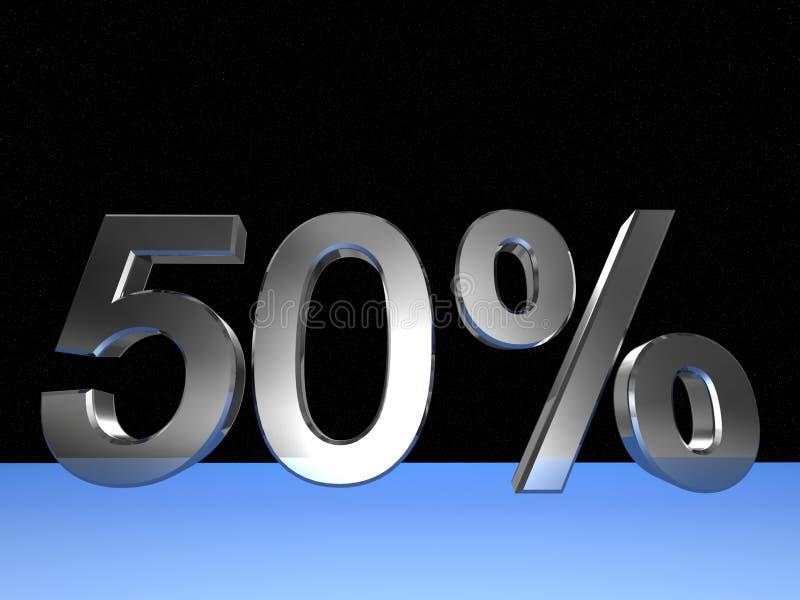 50 per cento illustrazione vettoriale