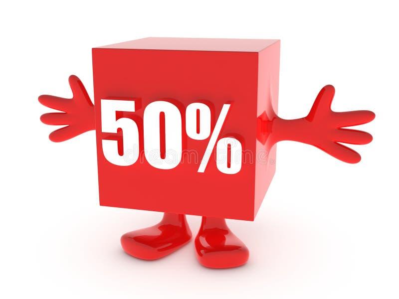 50 per cento fuori royalty illustrazione gratis