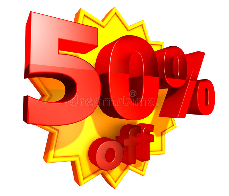 50 percent price off discount vector illustration