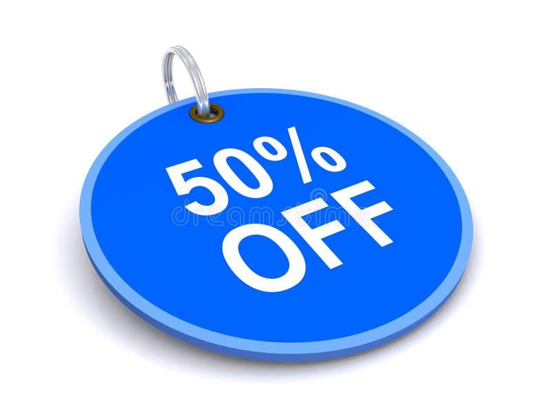 50 percenten van markering stock fotografie