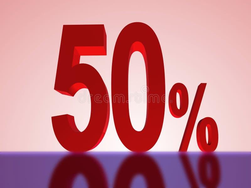 50 percenten weg royalty-vrije illustratie