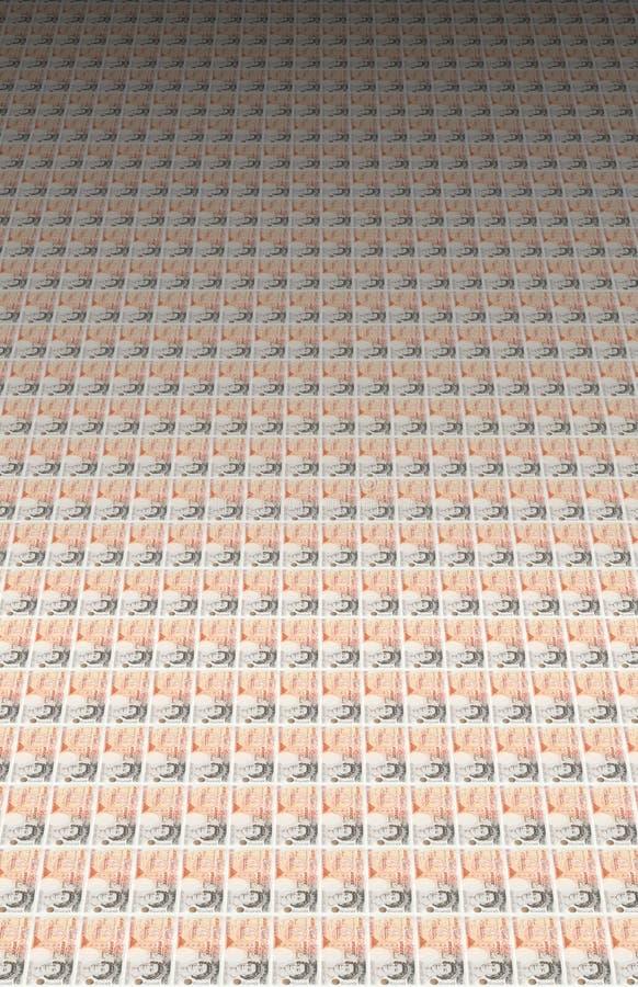 50 pondenbankbiljetten royalty-vrije illustratie