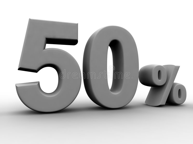 50 por cento ilustração royalty free