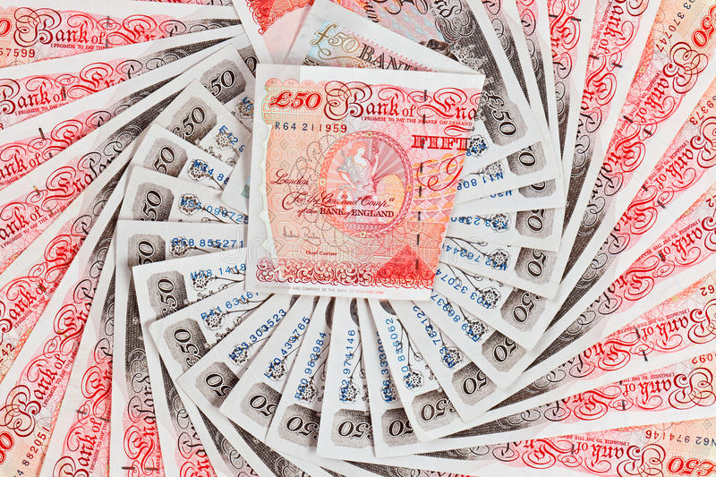 Download 50 Pound Sterling Bank Notes Business Background Stock Photography - Image: 21882862