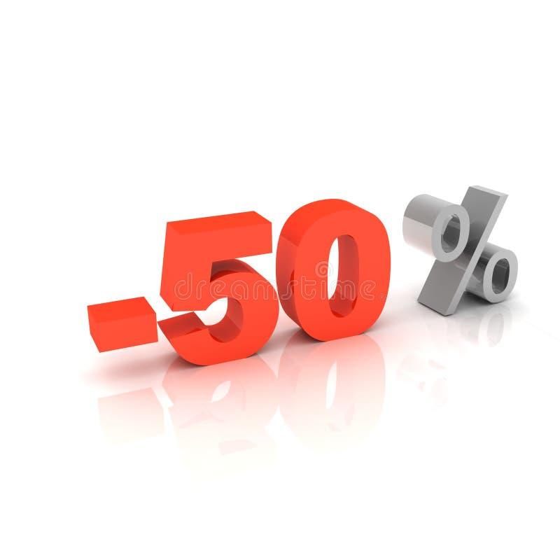 50 Prozent weg lizenzfreie abbildung