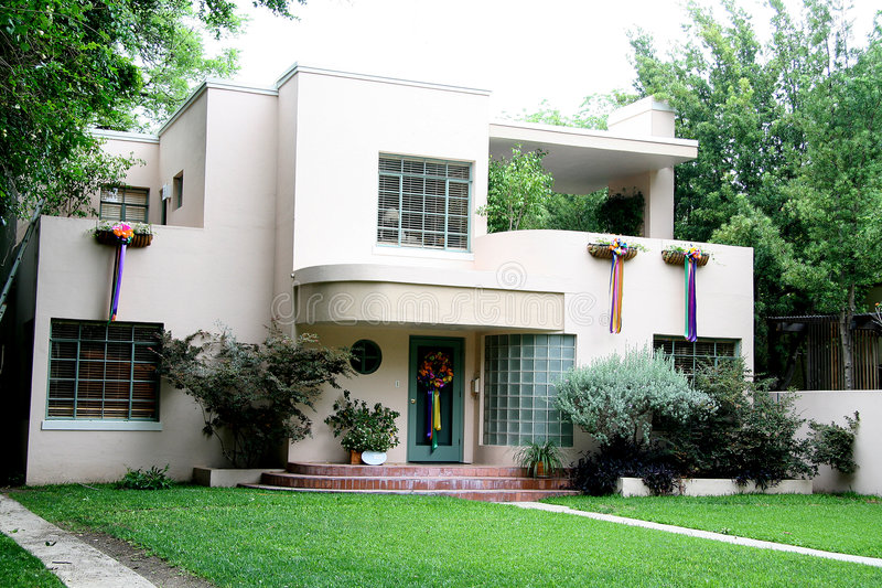 50 s house stock image. Image of deco, house, glass, lima6 - 792105