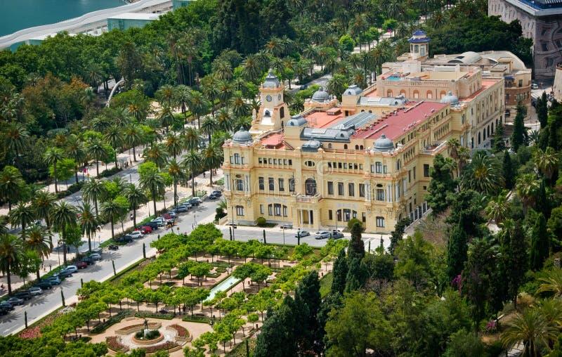 50 - vista aérea del ayuntamiento de Málaga imagen de archivo libre de regalías