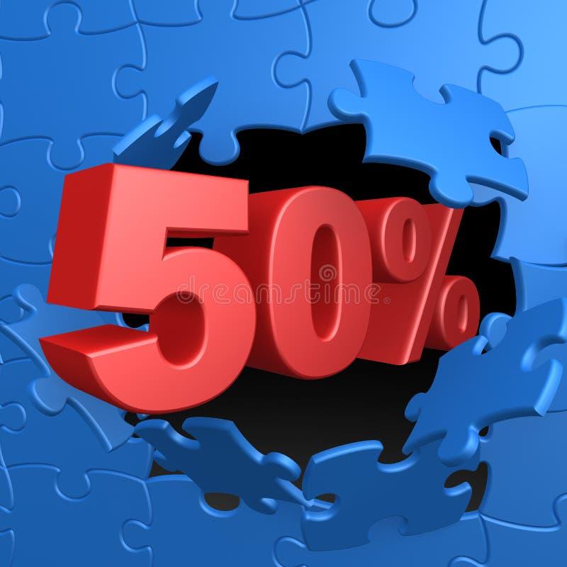 50% weg stock abbildung