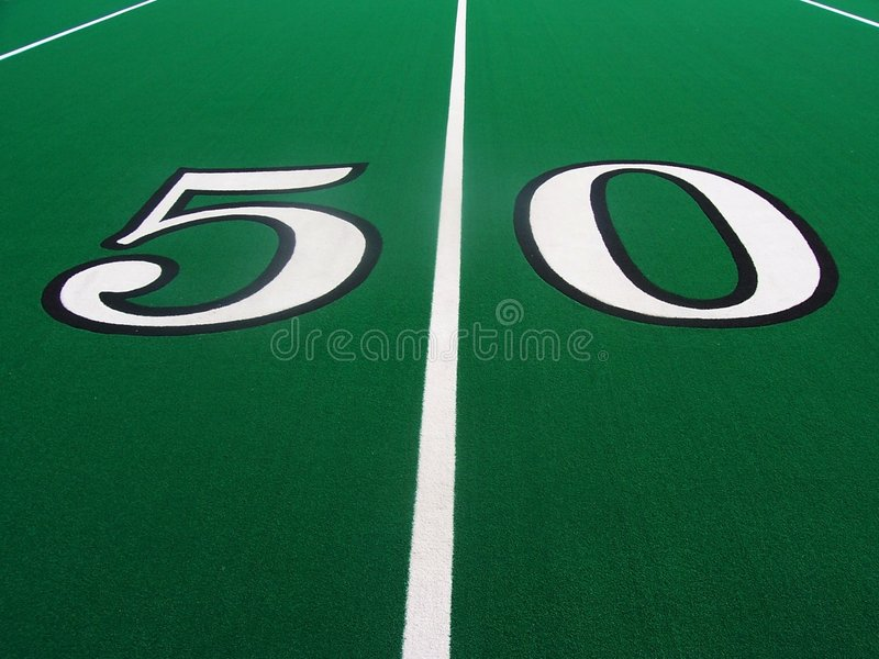 Download 50-Yard Line stock image. Image of white, football, grass - 84589