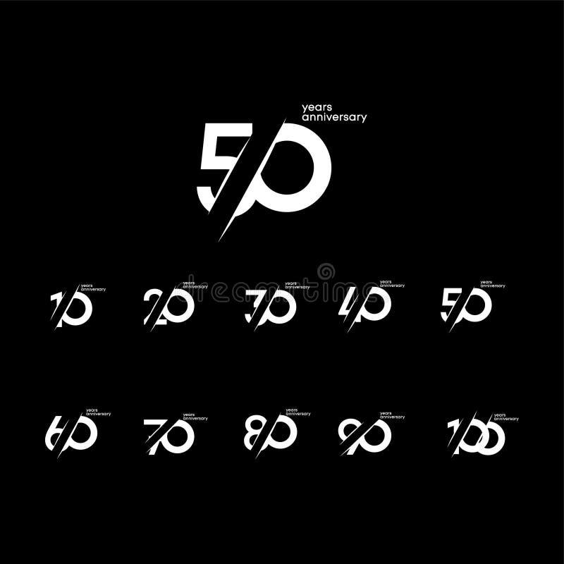 Free 50 Years Anniversary Set 10 20 30 40 60 70 80 90 100 Vector Template Design Illustration Stock Photos - 144599703